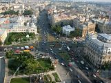 University Square top view, central Bucharest