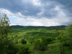 Gentle hills of Arges region,Romania