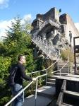 Climbing to Poenari