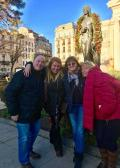Souvenir photo with my guests at the end of Bucharest city tour, Jan 2018