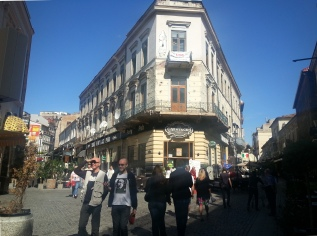 Bucharest Old Town lively atmosphere