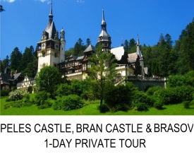 PELES CASTLE BRAN CASTLE & BRASOV 1 DAY PRIVATE TOUR