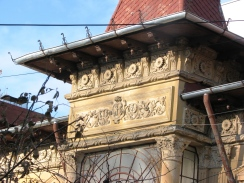 Frieze under the eaves of Bucharest house