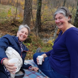 Picnic during autumn trip in Transylvania with Nancy & Susan, Oct 2018