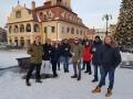Group snapshot during tour in Brasov, Transylvania, Jan 2019