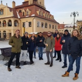 Group snapshot during tour in Brasov, Transylvania, Jan 2019