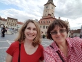 Cris your tour guide with Jill in Brasov, Transylvania during tour, July 2018