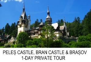 Peles Castle, Bran Castle, Brasov 1-day private tour