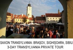 Transylvania 3-day private tour Brasov Sighisoara Sibiu