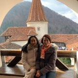 Thai guests at Bran Castle, Transylvania, March 2019