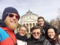 With Italian friends during Bucharest tour, March 2019