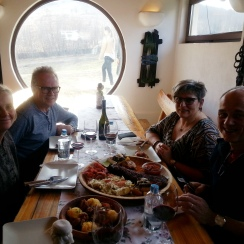 Fabulous Lunch during winery tour, in Dealu Mare wine region