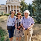 In front of the Romanian Athenaeum during Bucharest city tour, Sep 2019