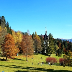 October colors at Peles Castle, Romania