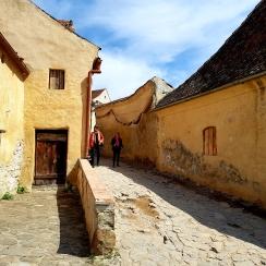 Inside the 14th century Rasnov Citadel, Transylvania