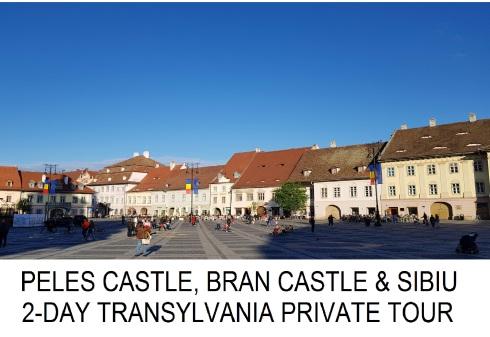 PELES CASTLE BRAN CASTLE SIBIU 2-DAY TRANSYLVANIA PRIVATE TOUR