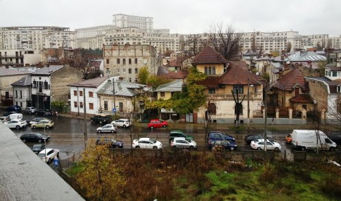 Antim district top view, Bucharest
