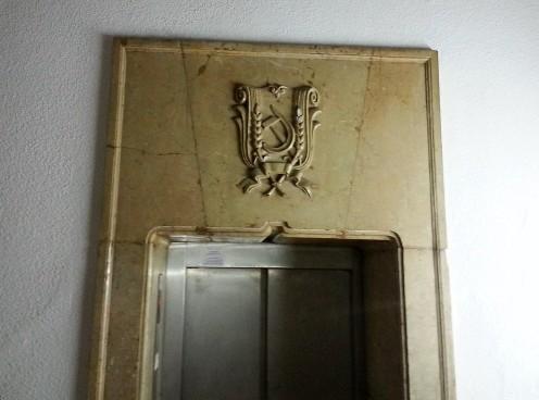 Stalinist era elevator decoration House of Free Press Bucharest
