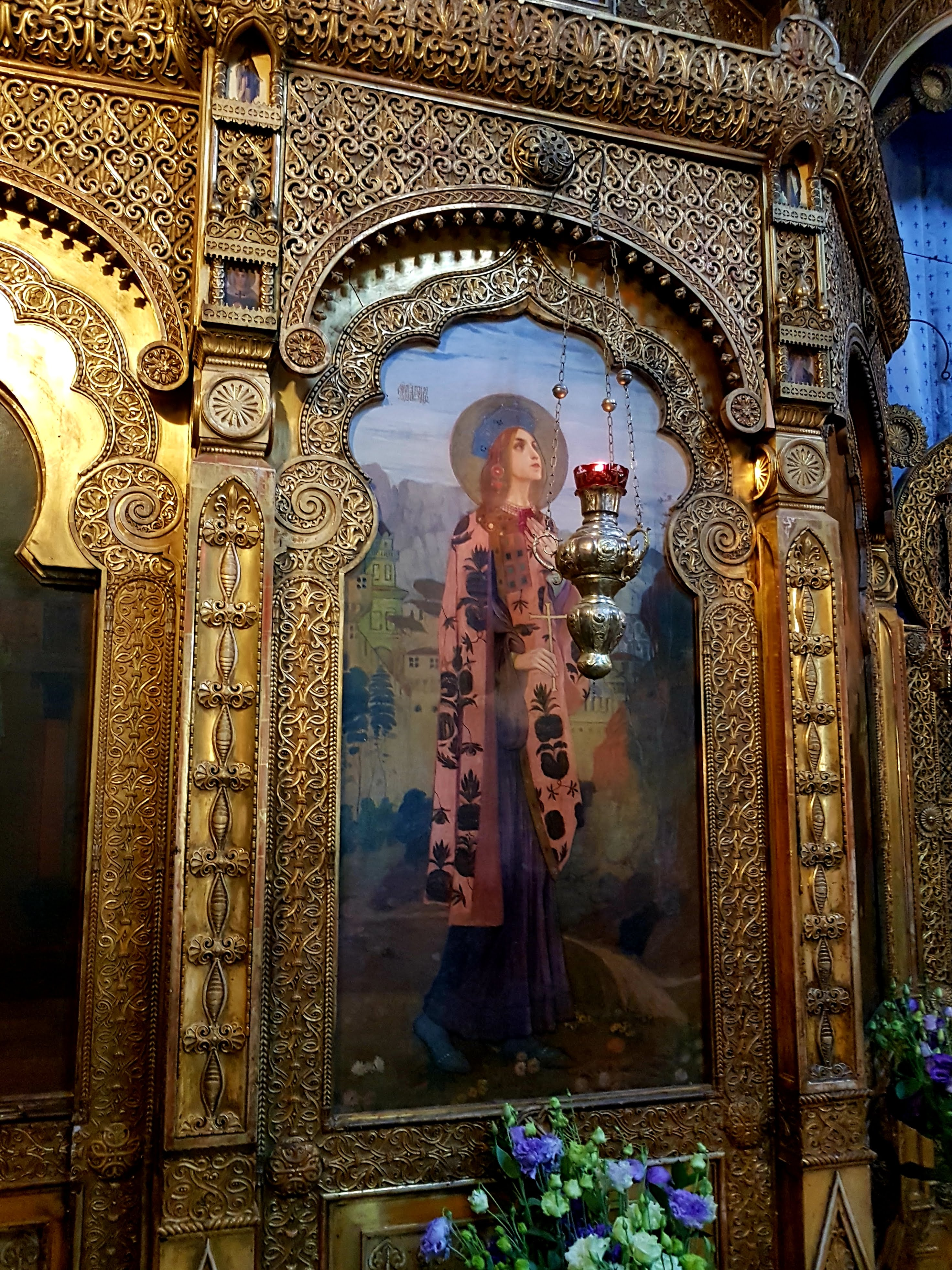 Two Icons Of The Iconostasis Of Russian Church Bucharest