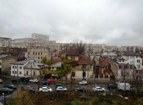 Top View to Antim District and the Palace of Parliament, Bucharest