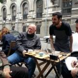 Coffee break during Bucharest tour