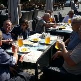Relaxation over beer with Danish beer connoisseurs during Bucharest tour