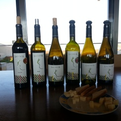 Wines for tasting at Lacerta Winery